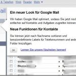 Ein neuer Look für Google Mail
