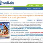 Gratis-Abo für 1 Jahr bei abowelt.de