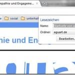 Lesezeichen, Favoriten, Bookmarks anlegen – Aber wie? (Chrome Browser)