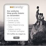 wetransfer – Dateien bis zu 2 GB Größe versenden