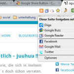 Google Share Button – Chrome Erweiterung