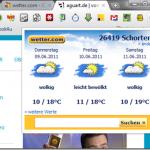 Wetter von wetter.com–Chrome Erweiterung
