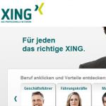 Screenshot vom 29.05.2012 von der Startseite xing.com
