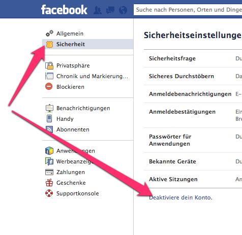 Facebook.com deaktivieren
