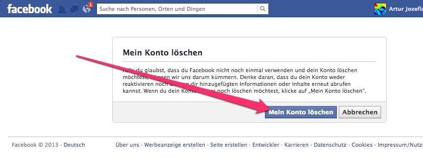 facebookKontoLoeschen04