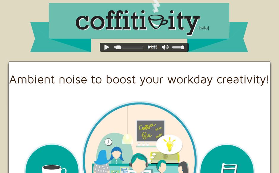Screenshot von www.coffitivity.com vom 15.03.2013