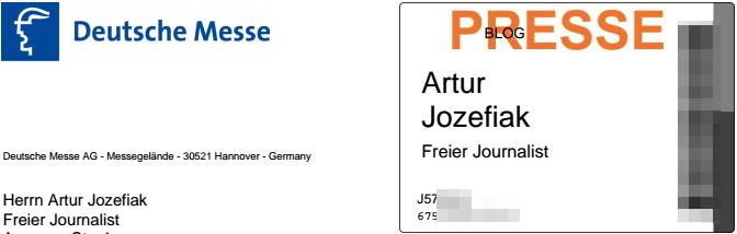 Presseausweis für Artur Jozefiak