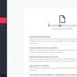 I need a resume – Schnell dein Lebenslauf generieren