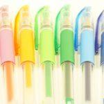 Kugelschreiber mit Logo sind klassische Streuartikel.